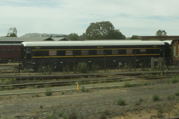 Standard gauge carriage 502AK stored on behalf of Steamrail