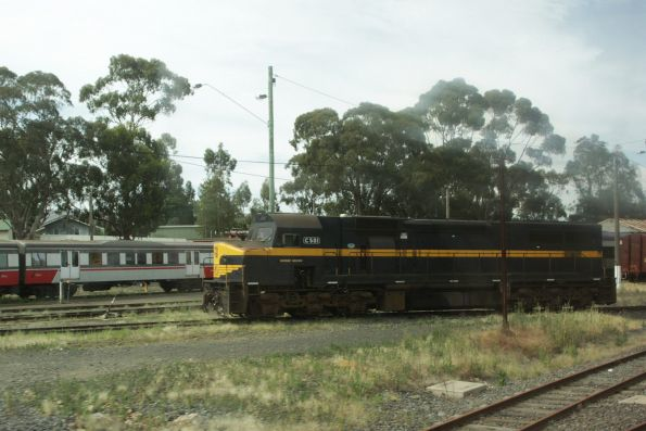 C501 stabled outside the turntable at Seymour