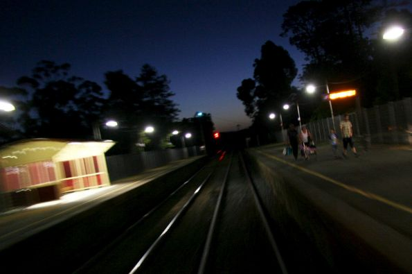 Departing Broadford station