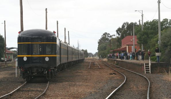 The train in number 2 road at Benalla