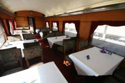 Dining Car set up for the evening