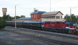 The train at Wangaratta