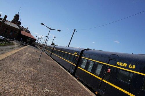Consist in the platform at Maryborough