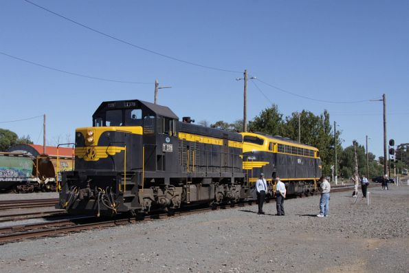 T378 and B74 set back onto the consist at Maryborough