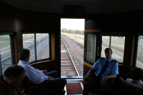 Looking out the back of Parlor Car