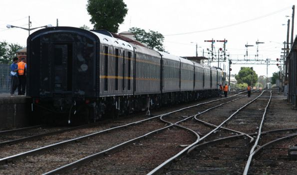 Tail end of the train at Wodonga