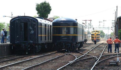 Shunting the train at Wodonga