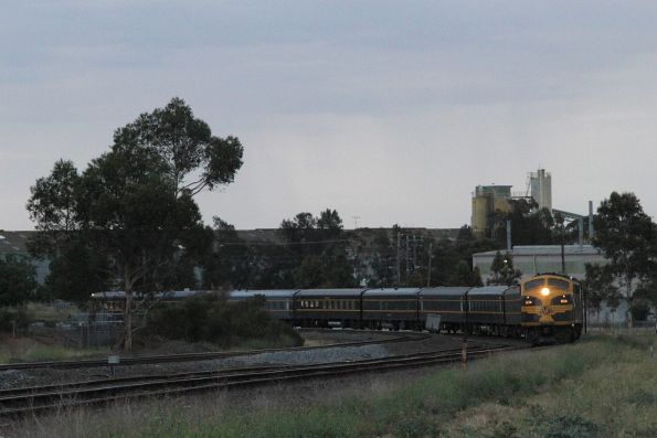 B74 leads S303 through Albion on the goods lines, headed back to Seymour