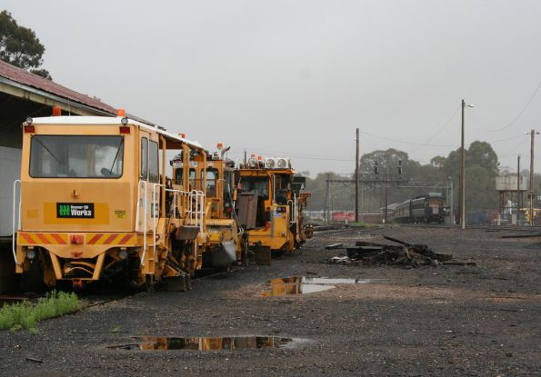 Shunting out of the depot at Seymour