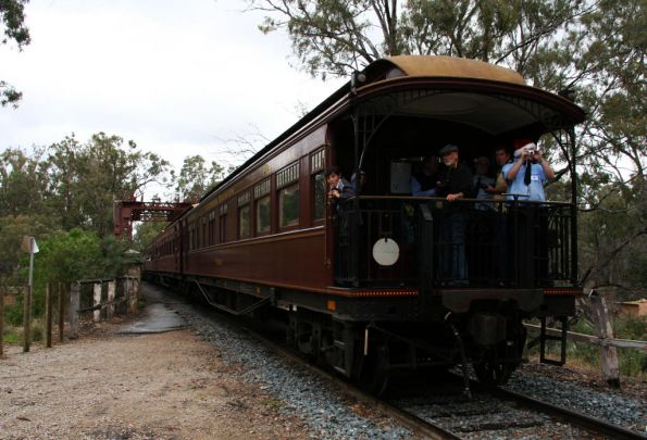 And parlor car 'Yarra' is on the other end of the train