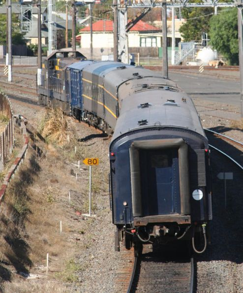 T357 - T320 arrive at Geelong on SRHC's 'Warrnambool Blue' tour