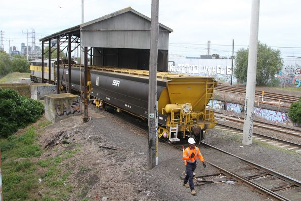S317 shunting grain wagons at Kensington