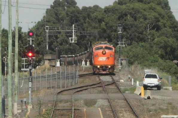 S302, T381 and T386 wait at North Dynon with a loaded broad gauge train from Sea Lake