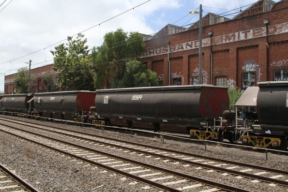 BGKF grain wagons stabled at the Kensington mill