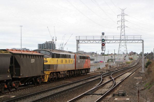 S302 leads S317 along the goods lines through South Kensington on the down