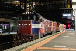 P16 and P17 lead IEV102 and G541 through Sunshine on an up transfer from Bendigo