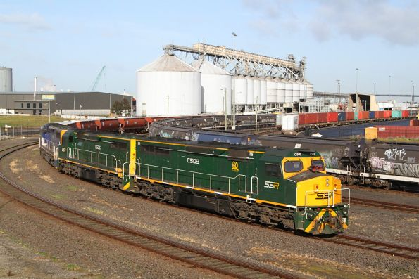 C509, C506 and C504 stabled on a SSR grain at Appleton Dock
