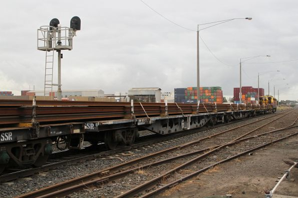 Load of rails from the Anzac Sidings bound for Tottenham Yard to discharge