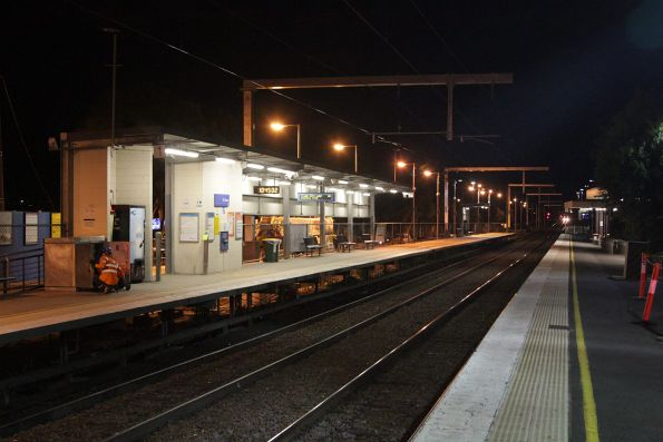 New stanchions at St Albans station, in the lead up to the grade separation works