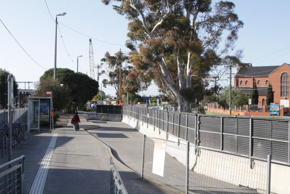 Western bus interchange closed off to form a construction site