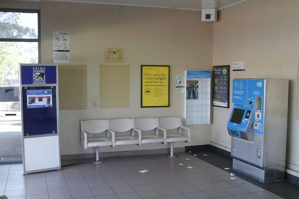 Stripped out waiting room at St Albans platform 2 and 3