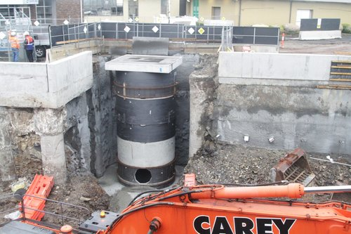 Constructing a pump station to extract stormwater from the railway cutting at St Albans station