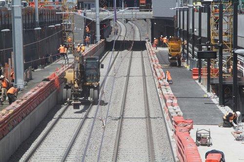 Still finishing off the platforms at Ginifer station