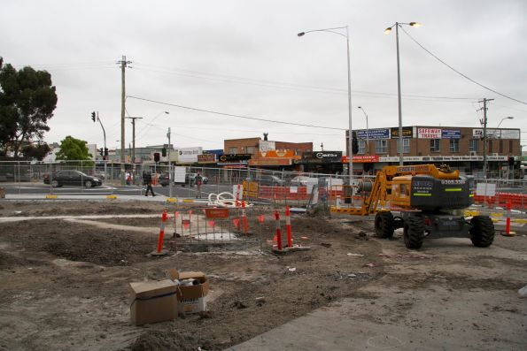 Work still underway at the corner of St Albans Road and Main Road East