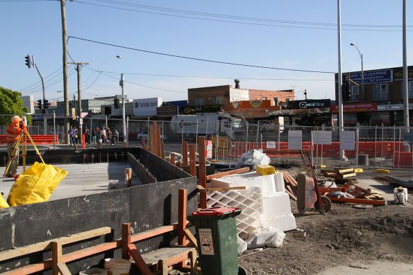 Work underway on the future shops at St Albans station