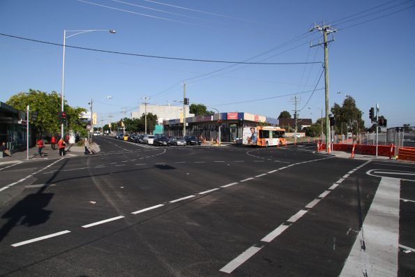 Sea of asphalt has replaced the level crossing at Main Road, St Albans