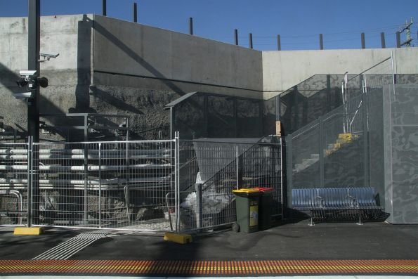 Shortcut set of stairs at St Albans platform 2 are *still* to be completed