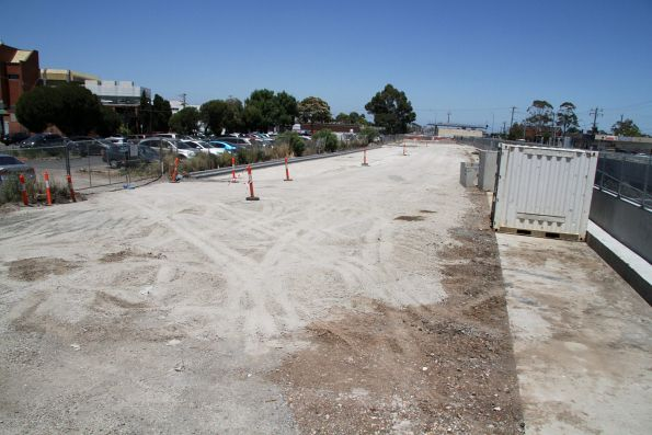Future car park at the north-east side of St Albans station, on the former rail alignment
