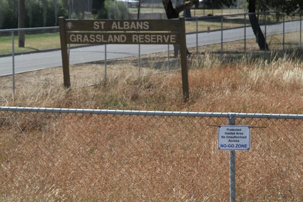 'No-go zone' at the St Albans Grassland Reserve