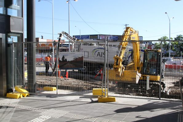 Works continue on the St Albans station forecourt