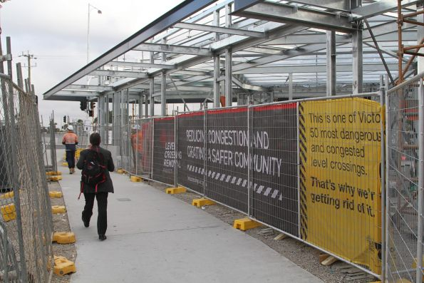 New railway station shops taking shape at St Albans