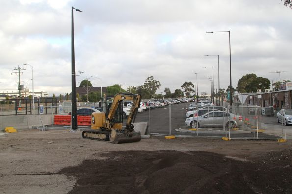 Former rail alignment north of St Albans station has been turned over to car parking