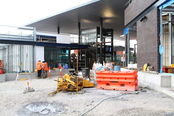 Work continues on the future eastern entrance to St Albans station