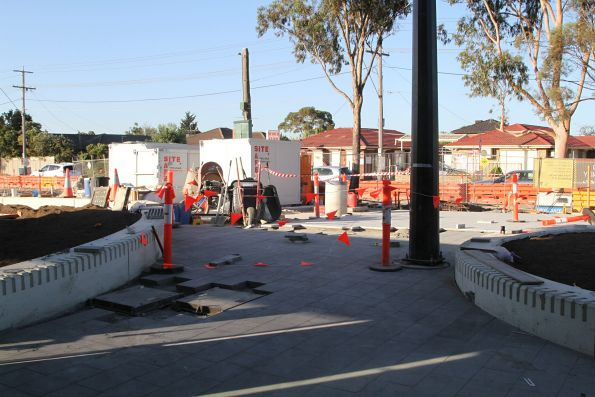 New pedestrian plaza taking shape on the eastern side of Ginifer station