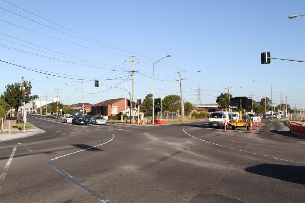 Rebuilt intersection at the corner of Furlong and St Albans Roads