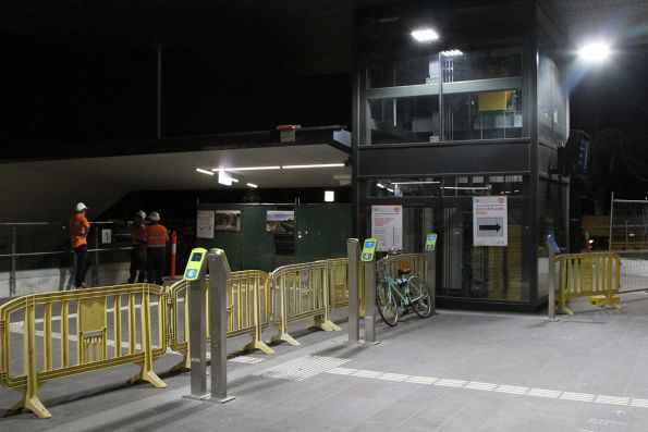 Main entrance at Ginifer station blocked off during trackwork