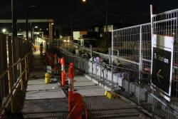 Work to install handrails at the northern entrance of Ginifer station