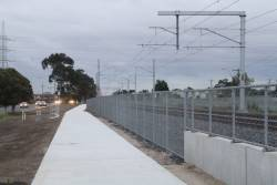 Looking from St Albans station towards Ginifer along the new bike path