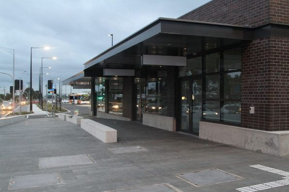 New shops beside the eastern entrance to St Albans station