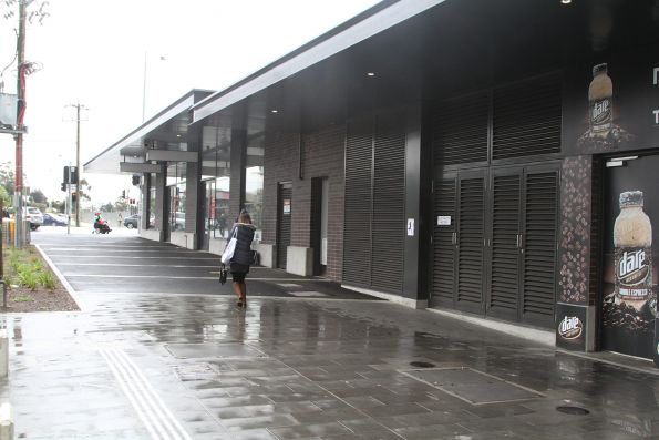 Shops on the new concourse at St Albans station starting to be occupied
