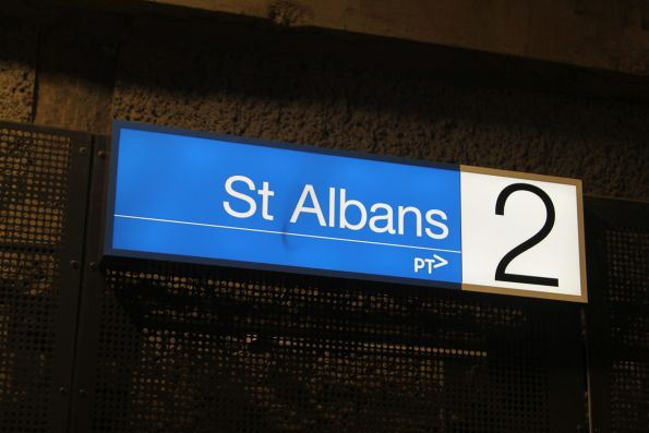 Illumination station signs at St Albans