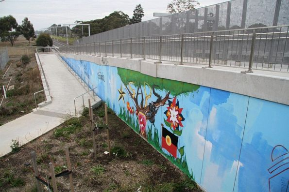 Mural at the Ruth Street pedestrian bridge in St Albans