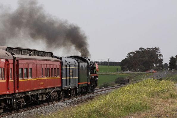 Heading towards the former station at Moorabool
