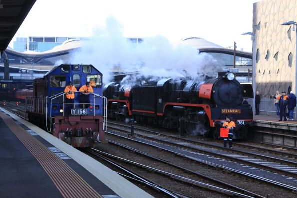 Steamrail - Double R class to Bendigo - September 2012