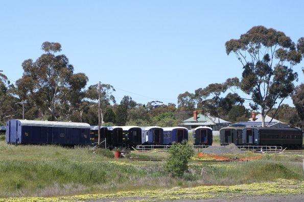 'K' stock carriages stabled around the turntable