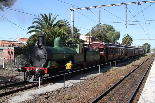 Steamrail - Essendon-Broadmeadows shuttles, April 2018